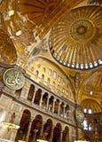Interior of the Hagia Sophia Istanbul Turkey Royalty Free Stock Photo