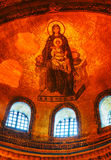 Interior of Hagia Sophia in Istanbul, Turkey early in the mornin Royalty Free Stock Photo