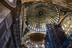 Interior of Hagia Sophia in Istanbul, Turkey - greatest monument Royalty Free Stock Photos
