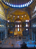 Interior of the Hagia Sophia. Istanbul, Turkey on January 2012 - Interior of the Hagia Sophia, once used by Orthodox Christian and then became as a grand mosque Royalty Free Stock Image
