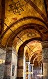 Interior of the Hagia Sophia, Istanbul, Turkey. ISTANBUL - MAY 25, 2013: Interior of the Hagia Sophia. Hagia Sophia (Ayasofya) is the greatest monument of stock photos
