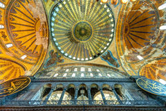 Interior of the Hagia Sophia in Istanbul, Turkey royalty free stock image