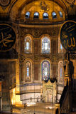 Interior of Hagia Sophia in Istanbul, Turkey. Royalty Free Stock Photos
