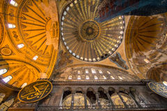 Interior of Hagia Sophia Royalty Free Stock Image