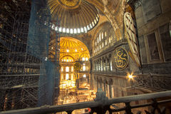 Interior of Hagia Sophia Royalty Free Stock Photo