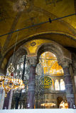 Interior of Hagia Sophia Istanbul Royalty Free Stock Images
