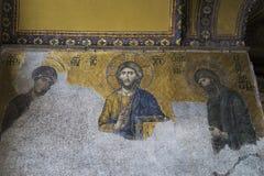 Interior of Hagia Sophia, Istanbul stock image