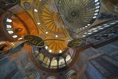 Interior of Hagia Sophia museum in Istanbul Stock Images