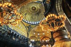 Interior of Hagia Sophia. Museum in Istanbul, Turkey Royalty Free Stock Images