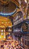 Interior of Hagia Sophia museum Stock Images