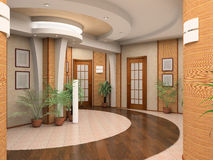 Interior of a hall. Modern interior of a hall royalty free stock photo