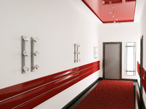 Interior of hall 3d render Royalty Free Stock Photo