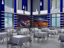 Interior of a hall of cafe Royalty Free Stock Photos