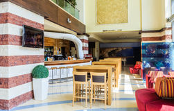 The interior of the hall of the hotel.  Albena, Bulgaria Royalty Free Stock Photo