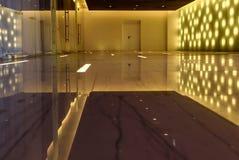 Interior hall modern reflection lights Stock Photo