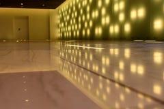 Interior hall modern reflection lights Royalty Free Stock Photography