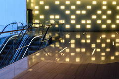 Interior hall modern reflection lights Royalty Free Stock Image