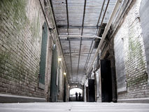 Interior Halls of Alcatraz Stock Photography