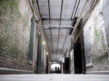 Interior Halls of Alcatraz Stock Photography