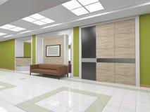 The interior hallway Stock Photo