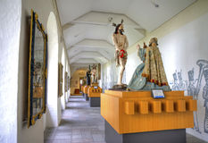 Interior hallway of a museum Stock Photo