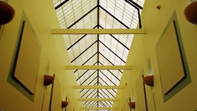Interior Hallway with Vaulted Ceiling stock photos