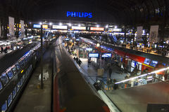 Interior of Hamburg central railway station. Germany Stock Photo