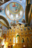 Interior of Hancu church. One of the most popular church in Moldova, church Hancu Royalty Free Stock Image