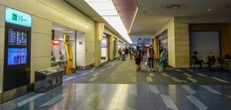 Interior of Haneda Airport in Tokyo, Japan stock image