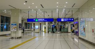 Interior of Haneda Airport in Tokyo, Japan royalty free stock images