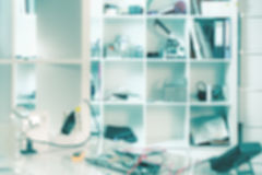 Interior of a hardware repair store out of focus. Technological background, interior of a hardware repair store out of focus Stock Photos