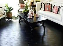 Interior with hardwood flooring royalty free stock photography