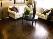 Interior with hardwood flooring Royalty Free Stock Photos
