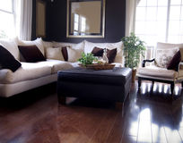 Interior with hardwood flooring stock photography