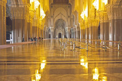 Interior of the Hassan II Mosque Casablanca Morocco Stock Images