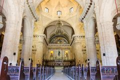 Interior of the Havana Cathedral, Cuba, Havana. Interior of the Havana Cathedral Royalty Free Stock Photo