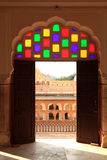 Interior of Hawa Mahal (Wind Palace) in Jaipur, India Stock Image