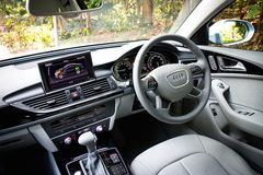 Interior híbrido de Audi A6 Fotografia de Stock Royalty Free