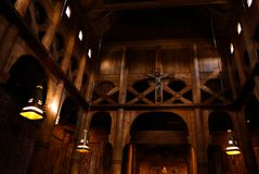 Interior of Heddal Stave Church, Notodden municipality, Norway Stock Photography