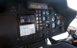 Interior of helicopter cabin Royalty Free Stock Photography