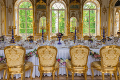 Interior of Hermitage pavilion in the Catherine Park of Tsarskoy Stock Photos