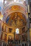 Interior hermoso de la catedral de Pisa (di Pisa del Duomo) Fotos de archivo