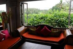 Interior hermoso de la sala de estar con la visión Fotografía de archivo