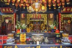 Interior hermoso de Vihara Buddhagaya Watugong Foto de archivo libre de regalías
