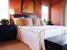 Interior hermoso del dormitorio Fotos de archivo libres de regalías