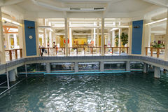 Interior of Heviz Spa. Spa is situated on the second largest thermal lake in the world Stock Images