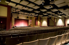 Interior of High School Auditorium Royalty Free Stock Image