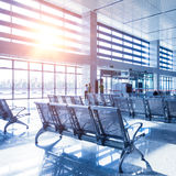 Interior of High Speed Rail Station in china.  Royalty Free Stock Image