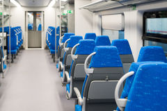 Interior high-speed electric train in Moscow, Russia Royalty Free Stock Image