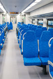 Interior high-speed electric train in Moscow, Russia Royalty Free Stock Photo